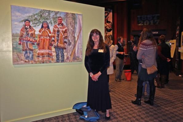 Karen Austen and her painting