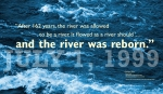 """""""After 162 years, the river was allowed and the river was reborn.""""JULY 1, 1999 —Richard Behr River Guide http://threeriversguideservice.biz/ Discussing the Edwards Dam removal. WordWrap 2018: Swimming Upstream, by Lisa Link for Waterville Creates!"""