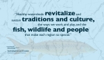 """""""Healthy watersheds revitalize and sustain traditions and culture, the ways we work and play, and the fish, wildlife and people that make each region so special."""" —Laura Rose Day Resident of Hallowell, Kennebec River Source to Sea Consulting Shortnose sturgeon illustration by Couch, Karen J, U.S. Fish and Wildlife Service, released into the Public Domain through Wikimedia Commons. Map: USGS Streamer, retrieved, March 2018. WordWrap 2018: Swimming Upstream, by Lisa Link for Waterville Creates!"""