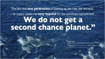 We Do Not Get a Second Chance Planet -